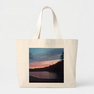 Sunset, Walden Pond, crescent moon Bag