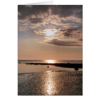 SUNSET WALES UK GREETING CARD