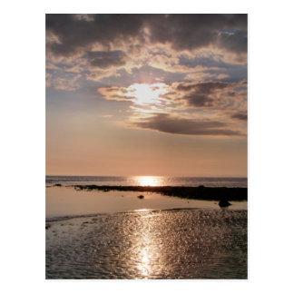 SUNSET WALES UK POSTCARD