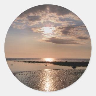SUNSET WALES UK ROUND STICKER