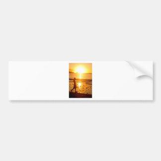 Sunset walk bumper sticker