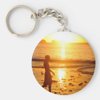 Sunset walk keychain