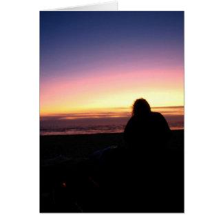 Sunset Watcher Card