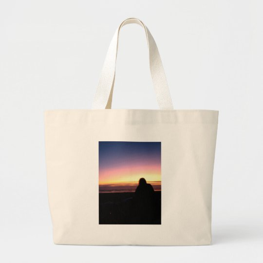 Sunset Watcher Large Tote Bag