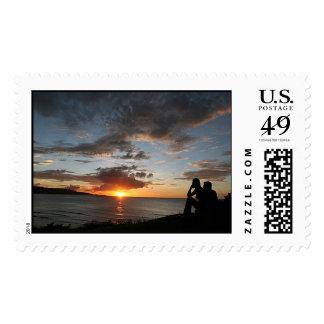 Sunset Watchers Postage