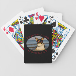 Sunset Watching, Corgi Style Bicycle Playing Cards
