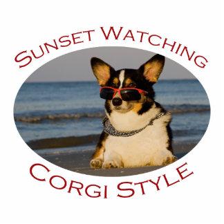 Sunset Watching Corgi Style Cut Outs