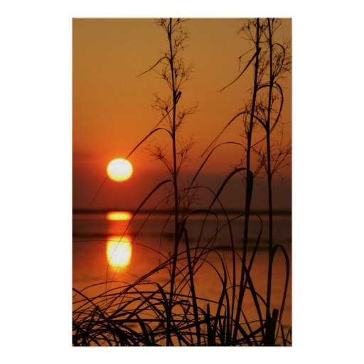 Sunset Water Poster