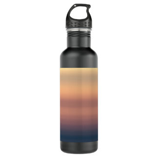 Sunset Watercolor Faded Orange Color 24oz Water Bottle