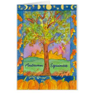 Sunset Watercolor Landscape Autumn Equinox Card