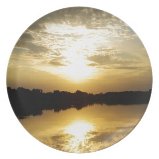Sunset Waterworks Plates