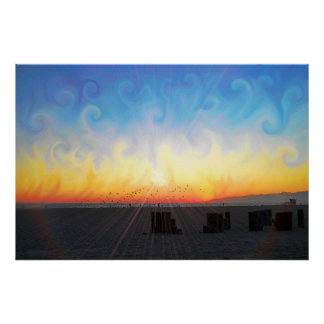 Sunset Waves 2 Poster