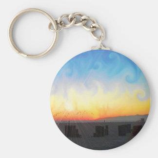 Sunset Waves Keychain