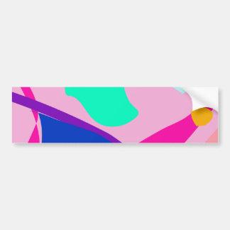 Sunset Waves Pink Bumper Sticker
