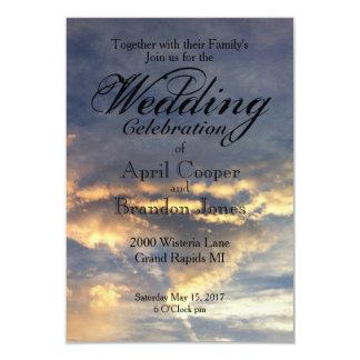 Sunset Wedding Card