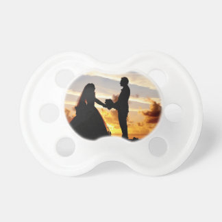 Sunset Wedding Couple Pacifier