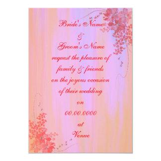 "'Sunset' Wedding invitation 5"" X 7"" Invitation Card"