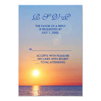 Sunset Wedding RSVP Card
