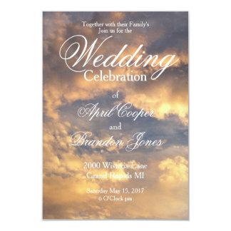 Sunset Wedding wedding card