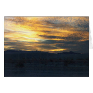 Sunset - White Sands National Monument Card