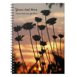 Sunset Wildflowers Notebook