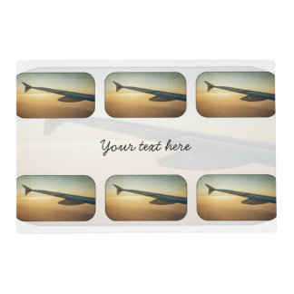 Sunset wing laminated placemat