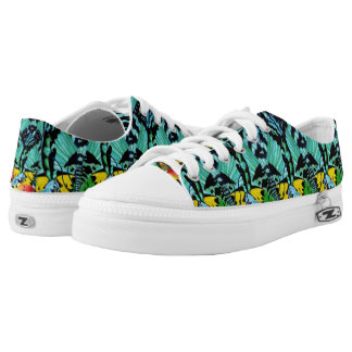 Sunset Wings Custom Zipz Lace Up Shoes Printed Shoes