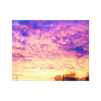 Sunset Winter Canvas Print