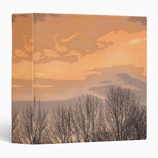 Sunset with Bare Trees 3 Ring Binder