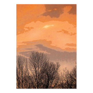 Sunset with Bare Trees ATC Business Card