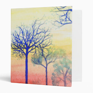 Sunset with Blue Trees Binder