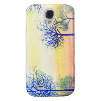 Sunset with Blue Trees Galaxy S4 Case