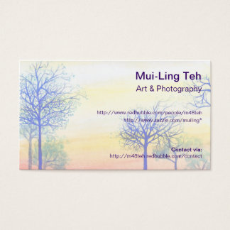 'Sunset with Blue Trees' Trading Card