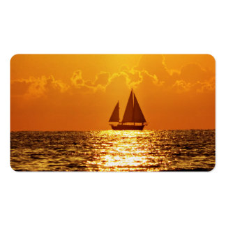 Sunset with Boat Business Card Template