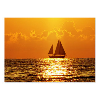 Sunset with Boat Business Card Templates