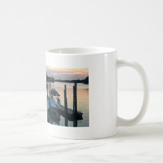 Sunset with Boats Photo Coffee Mug