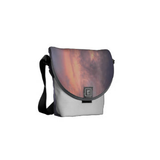 Sunset with clouds Messenger Bag