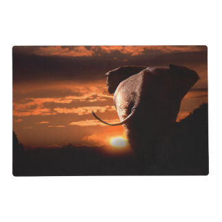 Sunset with Elephant Placemat