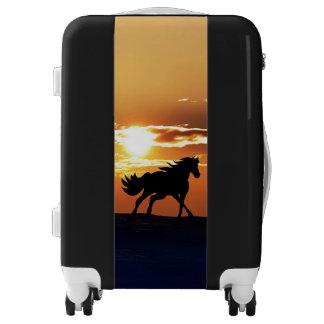 Sunset with Horse Luggage
