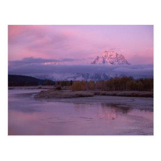 Sunset with Mount Moran in Grand Teton National Postcard