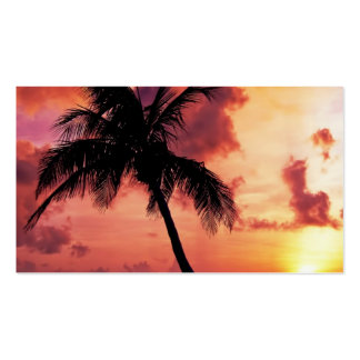 Sunset with Palm Business Card