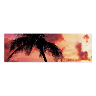Sunset with Palm Business Card Templates