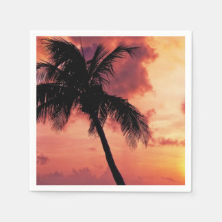 Sunset with Palm Paper Napkins