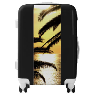 Sunset with Palm Tree Luggage