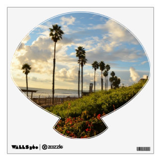 Sunset with Palm trees and Borgenvillia Room Stickers