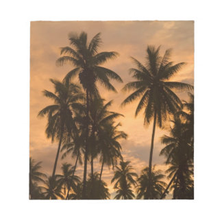 Sunset with Palm Trees, Moorea, French Polynesia Memo Pad