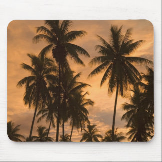 Sunset with Palm Trees Moorea French Polynesia Mouse Pad