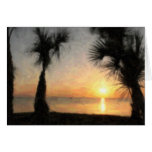 Sunset with Palms, 108 Card