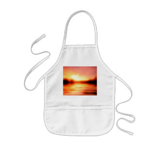 Sunset with Pinks, Reds and Oranges over Water Kids' Apron