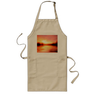 Sunset with Pinks, Reds and Oranges over Water Long Apron